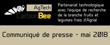 Visuel communique Carbon Bee AgTech 434×181